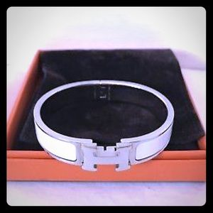 Hermes H clic clac bracelet with box